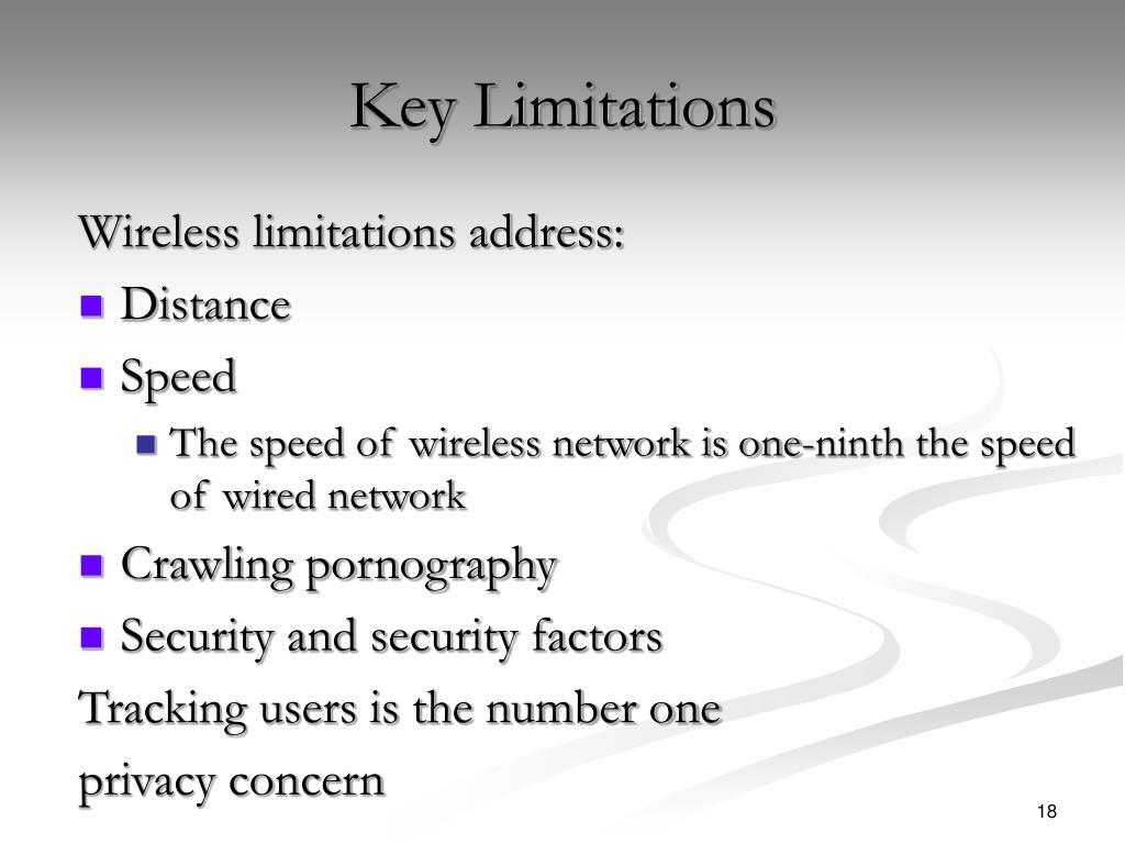 Key Limitations