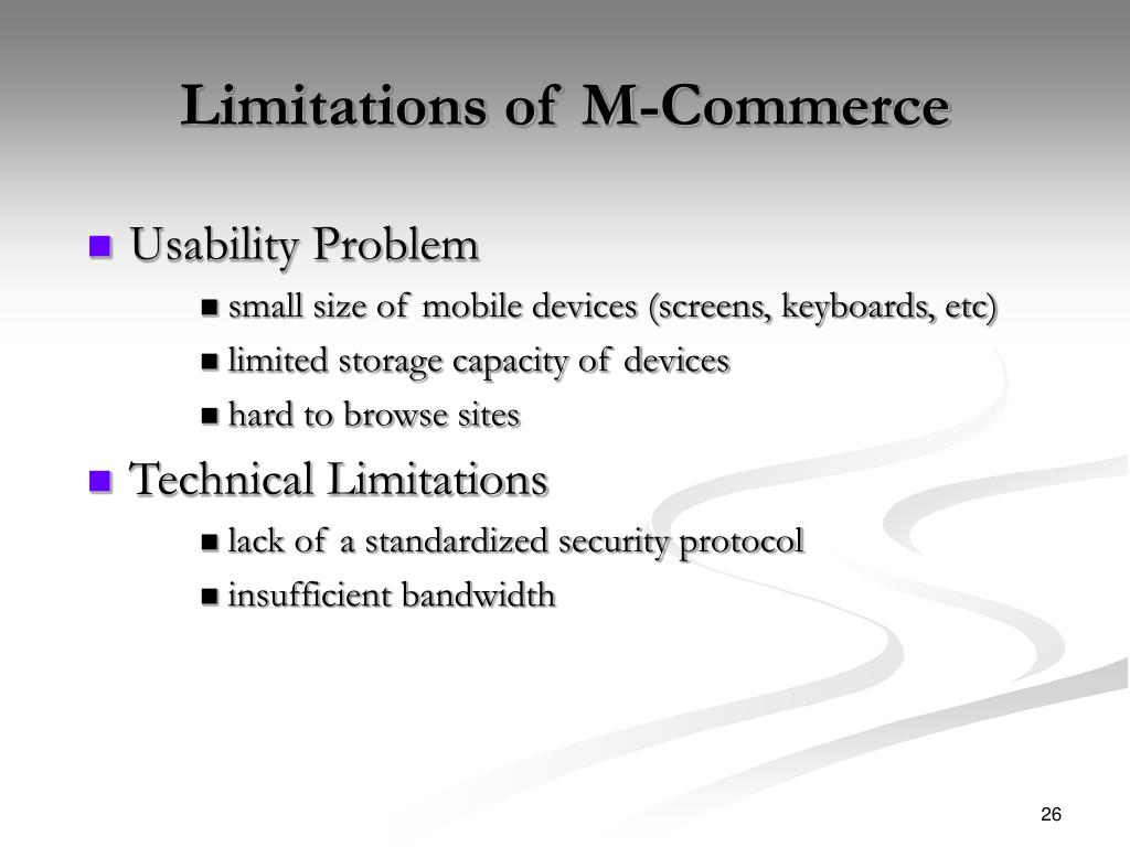 Limitations of M-Commerce