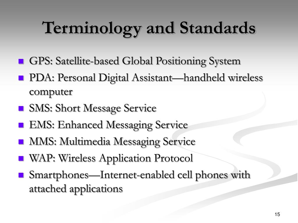 Terminology and Standards