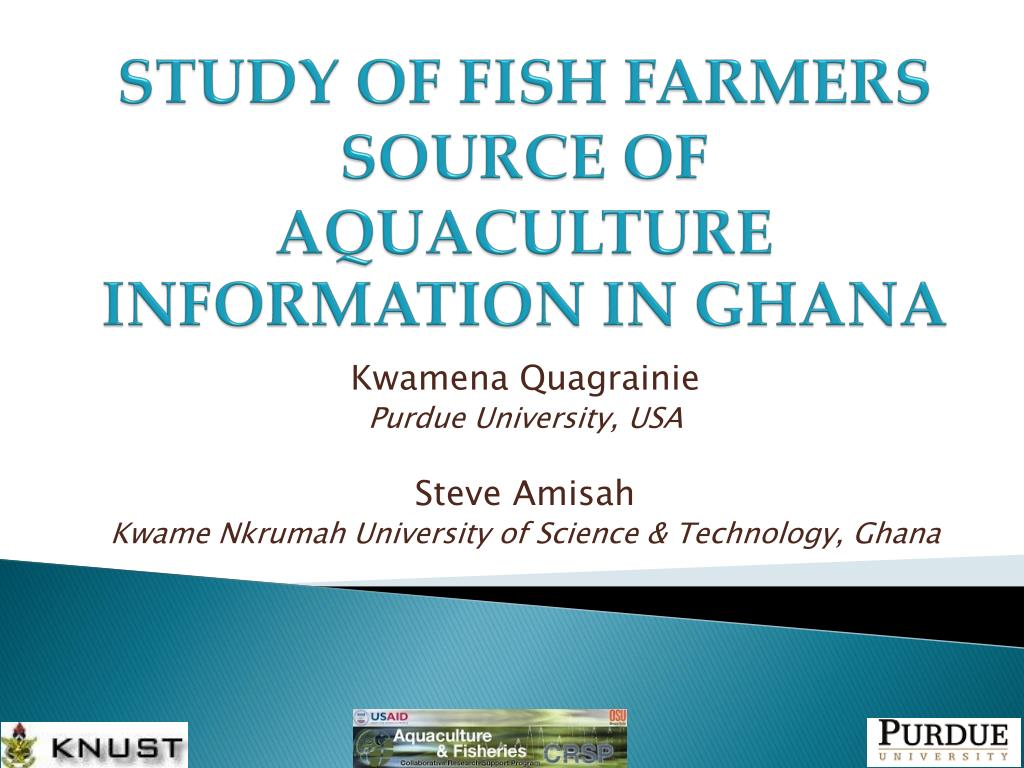 study of fish farmers source of aquaculture information in ghana l.