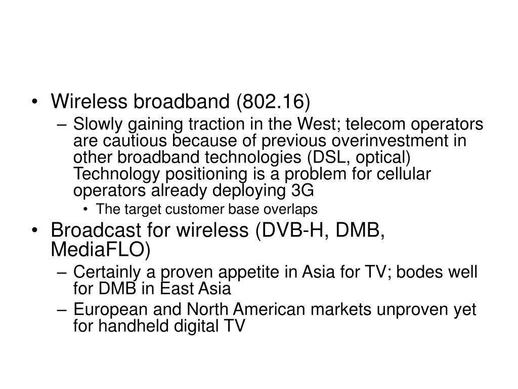Wireless broadband (802.16)