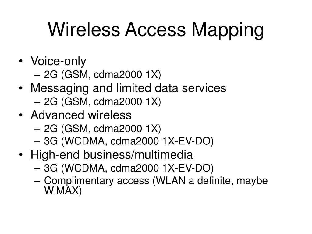 Wireless Access Mapping