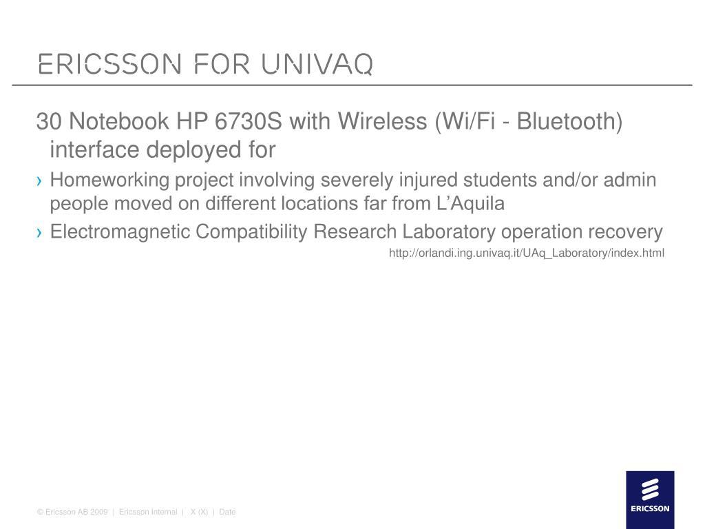 Ericsson for Univaq