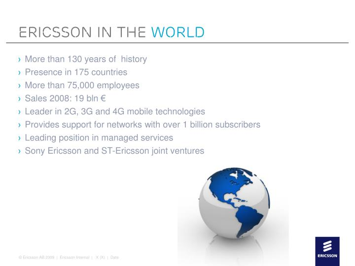 Ericsson in the world