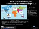 multi site redundancy and enhanced performance using gslb