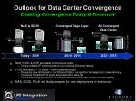outlook for data center convergence enabling convergence today tomorrow