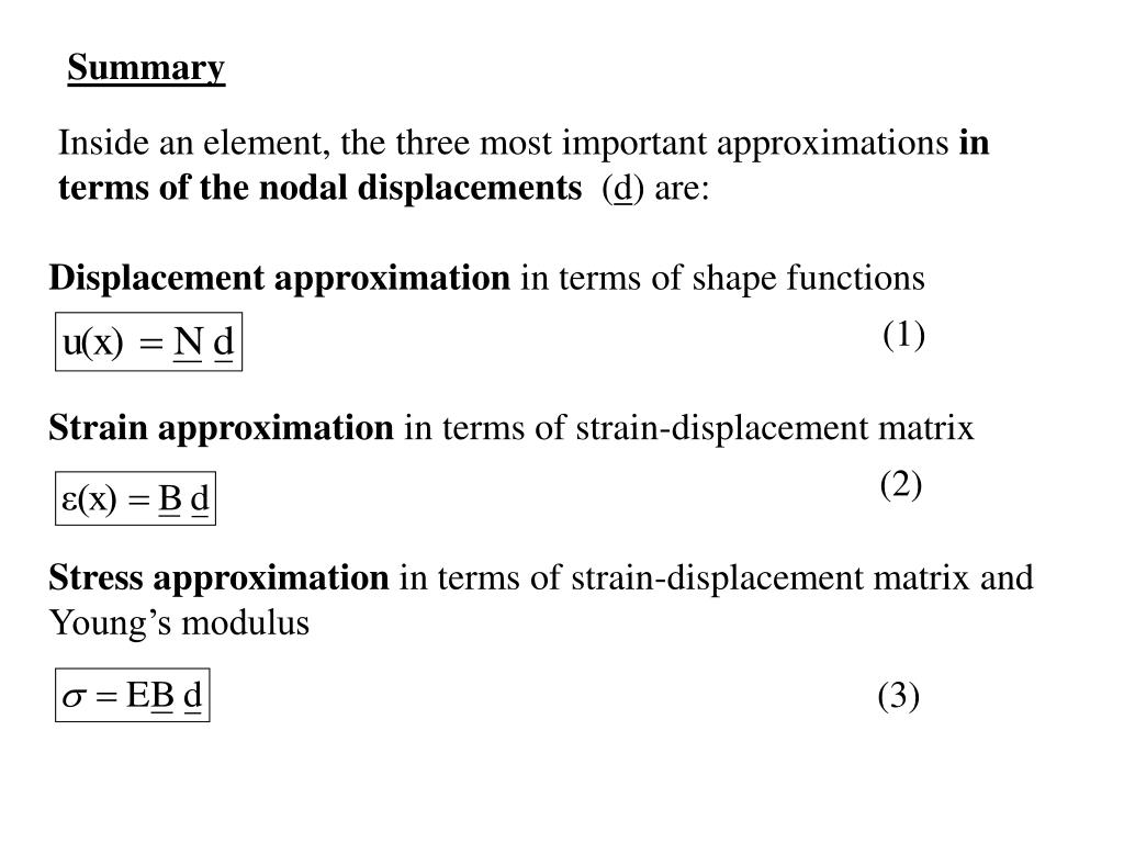 Displacement approximation