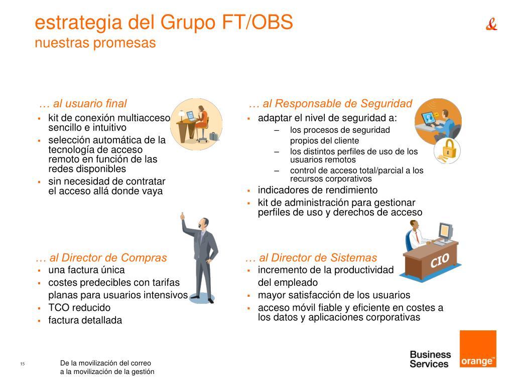 estrategia del Grupo FT/OBS