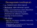 decongestants oral topical