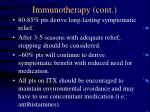 immunotherapy cont48