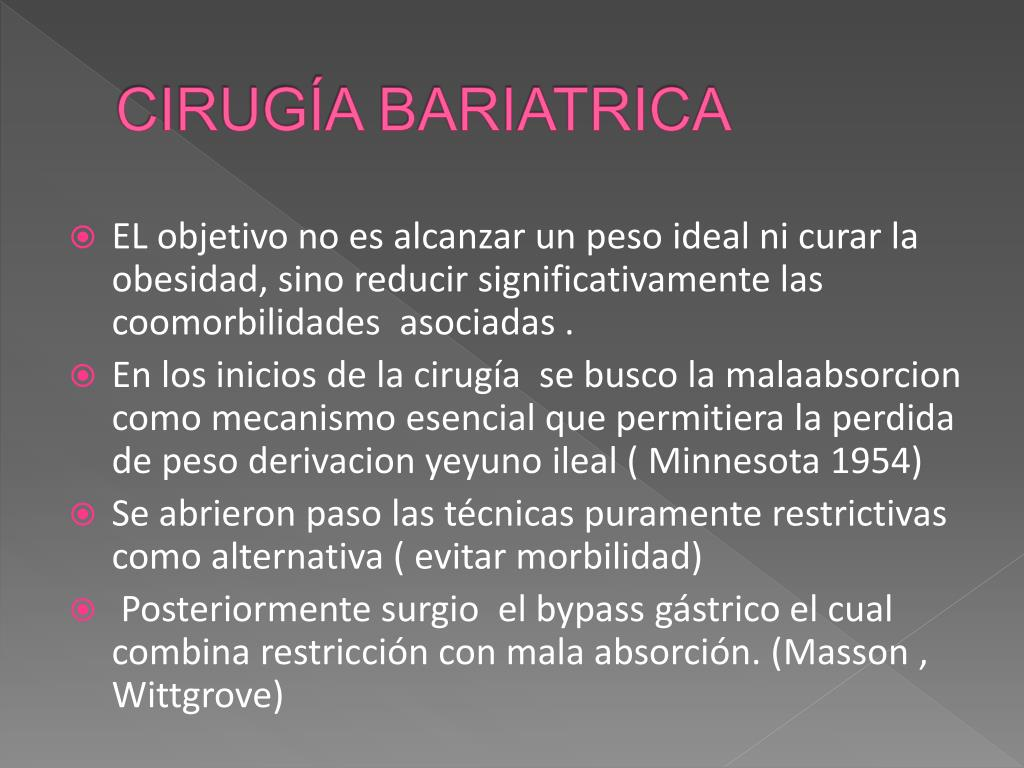CIRUGÍA BARIATRICA