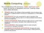 mobile computing attributes
