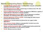 mobile computing basic terminology