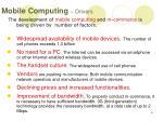 mobile computing drivers