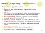 mobile computing financial services