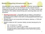 mobile computing infrastructure wlan s