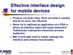 effective interface design for mobile devices36