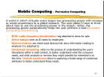 mobile computing pervasive computing