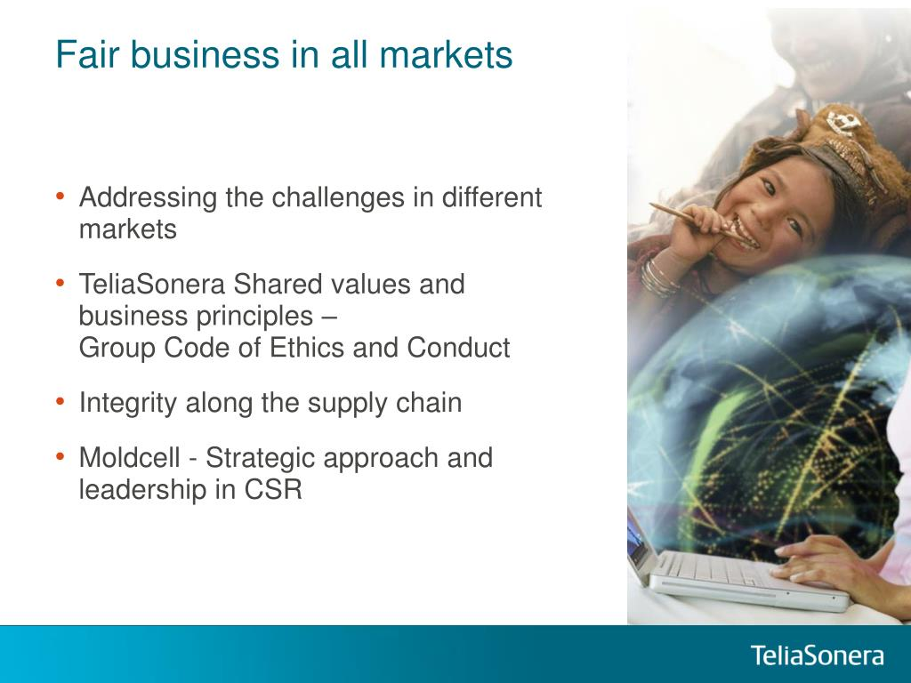 Fair business in all markets