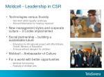 moldcell leadership in csr
