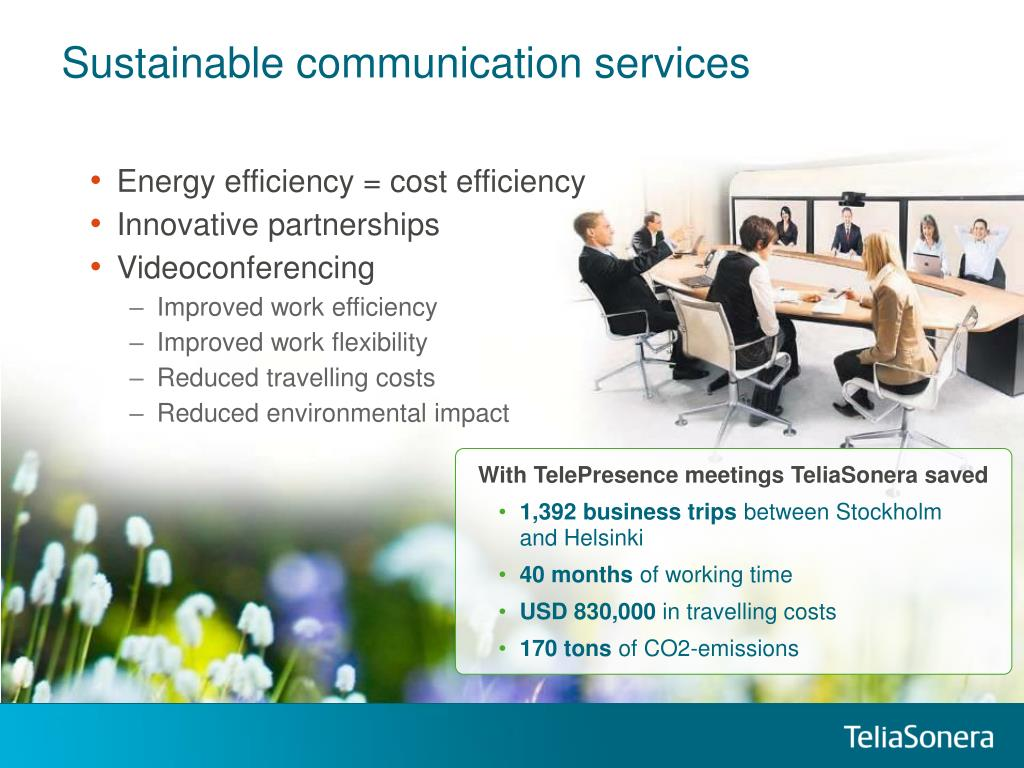 Sustainable communication services
