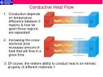 conductive heat flow