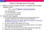 heat temperature change