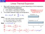 linear thermal expansion