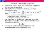 volume thermal expansion