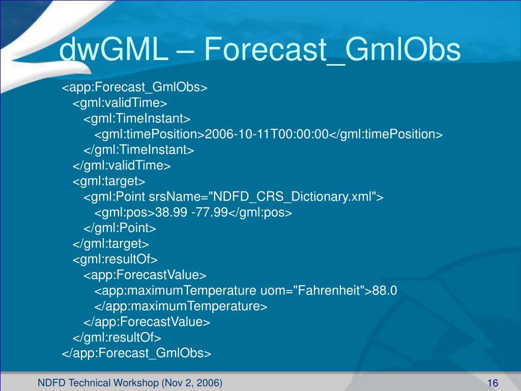 dwGML – Forecast_GmlObs