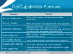 getcapabilities sections