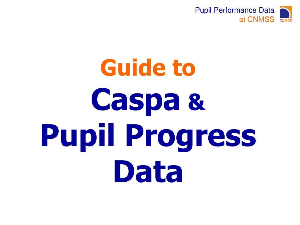 guide to caspa pupil progress data l.
