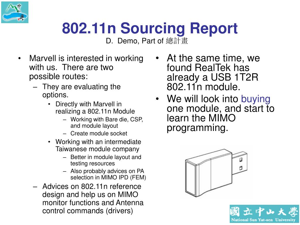 Marvell is interested in working with us.  There are two possible routes:
