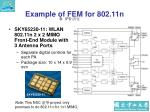 example of fem for 802 11n
