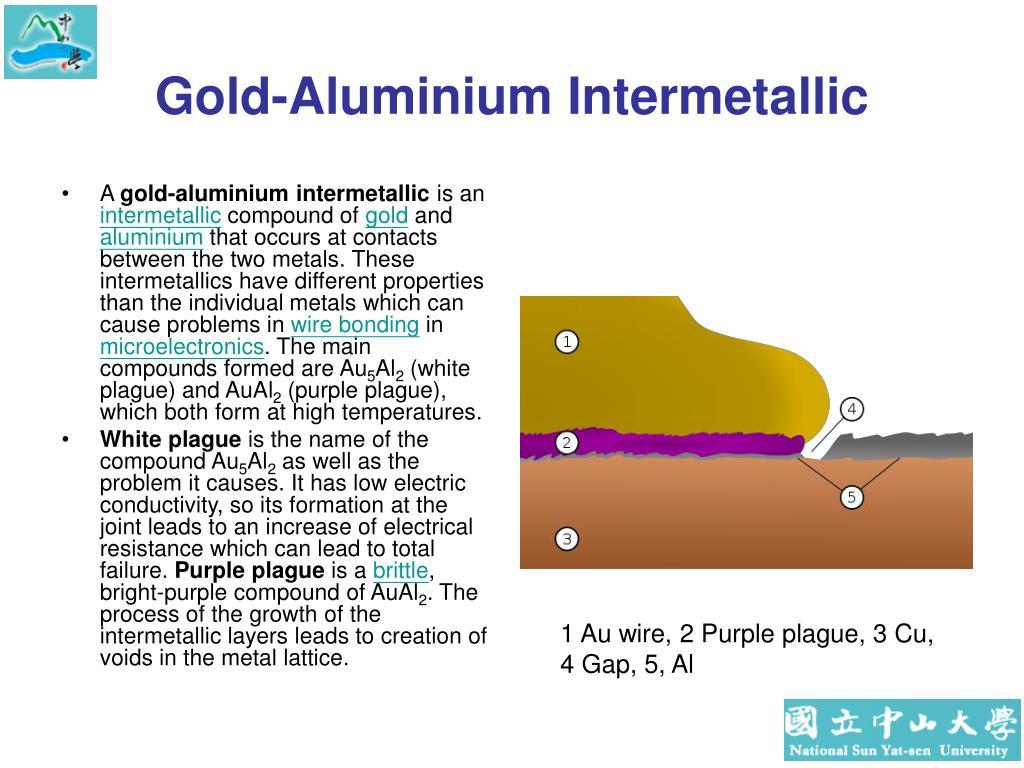 Gold-Aluminium Intermetallic