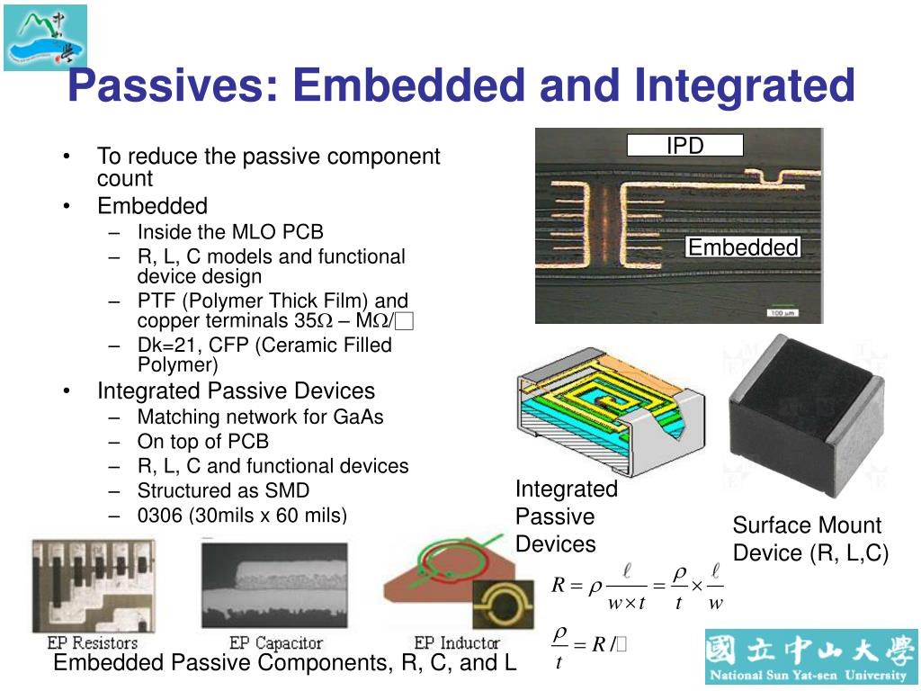 Passives: Embedded and Integrated