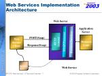 web services implementation architecture
