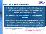 what is a web service