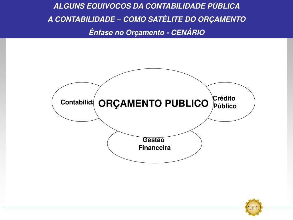 ALGUNS EQUIVOCOS DA CONTABILIDADE PÚBLICA