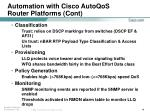automation with cisco autoqos router platforms cont