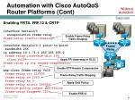 automation with cisco autoqos router platforms cont21