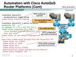 automation with cisco autoqos router platforms cont22