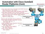 automation with cisco autoqos router platforms cont23
