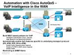 automation with cisco autoqos voip intelligence in the wan