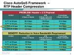 cisco autoqos framework rtp header compression