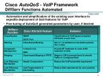 cisco autoqos voip framework diffserv functions automated