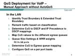 qos deployment for voip manual approach without autoqos38