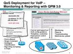 qos deployment for voip monitoring reporting with qpm 3 0