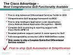 the cisco advantage m ost comprehensive qos functionality available