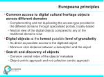 europeana principles
